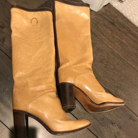 b87b37f5de4334 Vero Cuoio Italian Leather Knee Hight Boots. M 5a3c56f345b30c856f0027b2
